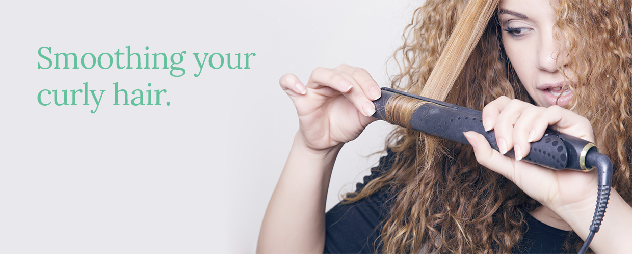 smoothing your curly hair